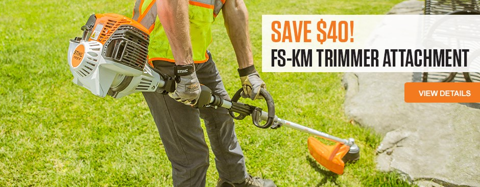 Save Now on the FS-KM Trimmer Attachment!